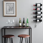 MODUWINE Wall Mounted Wine Rack – Round Style – 3, 4, 5 Pieces – Black - Wallniture