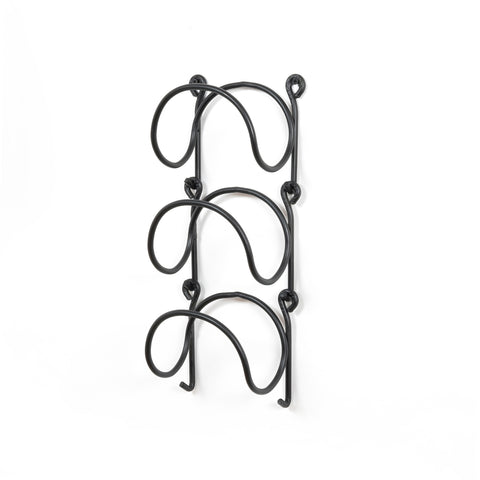 MODUWINE Wall Mounted Wine Rack – Round Style – Set of 3 – Black - Wallniture