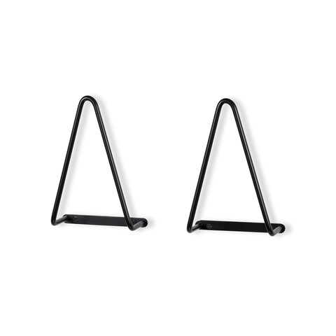 "VANGO 3"" Depth Triangular Bracket – Set of 2 – Black - Wallniture"