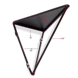 PRISMO Triangular Geometric Wall Shelf – Black - wallniture