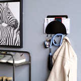 VENETO Wall Mounted Entryway Organizer with 6 Hooks – White, Black - Wallniture