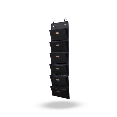 ARCHIVO Hanging Wall File Holder, 6 Sectional – Black - wallniture
