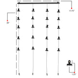 CORDONE 4 Wire Picture Hanging Kit, Hanging Collage Picture Display with 20 Clips – Black - Wallniture