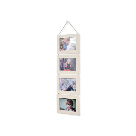 "WOODARIES Unpainted Wooden Collage Frame - 4"" x 6"" Display - Wallniture"