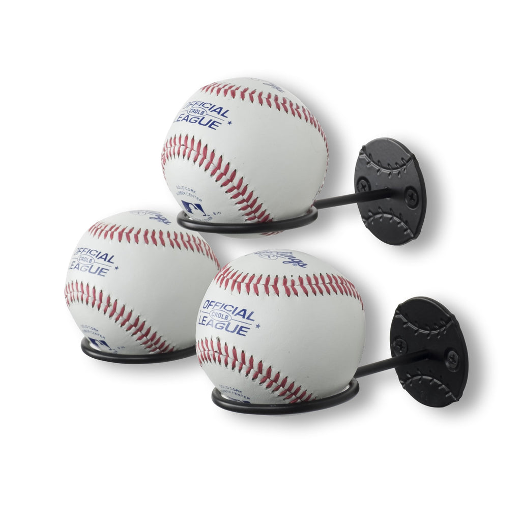 Sporta Baseball Rack Set Of 3 Black Wallniture