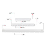 PHILLY Wall Tray Shelf - Multisize - Set of 3
