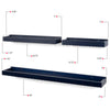 PHILLY Wall Tray Shelf - Multisize - Set of 3 - White, Navy Blue, Gray, Walnut - Wallniture