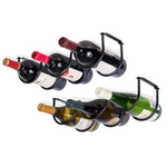 ANDORA Under Cabinet Wine Rack – 3 Sectional – Black – Set of 1 or 2 - Wallniture