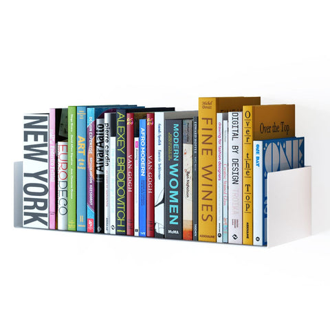 "BALI U Shape Floating Shelf and Wall Bookshelf Metal – 17"" Length – White, Black - Wallniture"