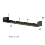 BALI U Shape Floating Shelves Wall Bookshelf and Video Game Shelf for Living Room Decor – Set of 2 – Black - Wallniture