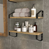 "BRAGA 17"" Bathroom Shelf for Bathroom Decor, Wall Bathroom Organizer  – Set of 4 - Wallniture"