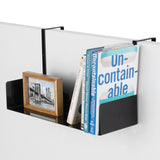 "BUROBALI Metal Cubicle Hanging Bookshelf – 17"" Length – Black - Wallniture"