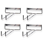 "CHIRAZ Wall Mounted Wine Glass Rack – 15"" Depth – Set of 4 – Chrome - Wallniture"