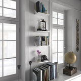 "COVE Floating Shelves Wall Bookshelf – 12"" Length – Walnut, White - Wallniture"