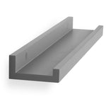 "DENVER Wall Bookshelf and Picture Ledge Shelf – 22"" Length – Set of 2 - Gray"