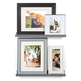 "DENVER Floating Shelves Wall Bookshelf and Picture Ledge – 22"" Length – Set of 2 - Gray - Wallniture"
