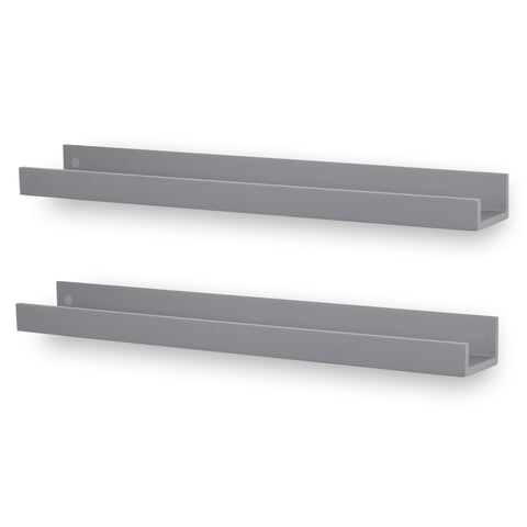 "DENVER Wall Mount Bookshelf – 34"" Length – Gray – Set of 2 - Wallniture"
