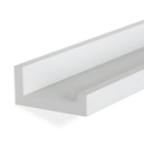 "DENVER Floating Shelves Wall Bookshelf and Nursery Decor – 60"" Length x 3.7"" Depth – White – Set of 2 - Wallniture"