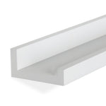 "DENVER Floating Shelves Wall Bookshelf and Picture Ledge – 46"" Length x 3.8"" Depth – Set of 2 – White, Black - Wallniture"
