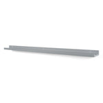 "DENVER Floating Shelves Wall Bookshelf and Picture Ledge – 46"" Length x 3.6"" Depth – Set of 1 or 3 – Gray - Wallniture"