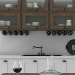 DIJON Under Cabinet Wine Rack – 5 Sectional – Black - Wallniture