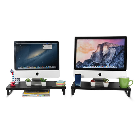 DINAN Height Adjustable Computer Monitor Riser - Set of 2 - wallniture