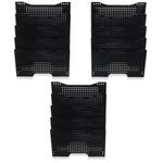 DOTS LISBON Wall File Magazine Holder - 5, 10, 15 Tier - Black - Wallniture