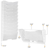 DOTS LISBON Wall File Magazine Holder – 5, 10, 15 Tier – White - Wallniture