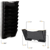 DOTS LISBON Wall File Magazine Holder – 3, 6, 9 Tier – Black - Wallniture