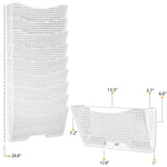 DOTS LISBON Wall File Magazine Holder - 3, 6, 9 Tier - White - Wallniture