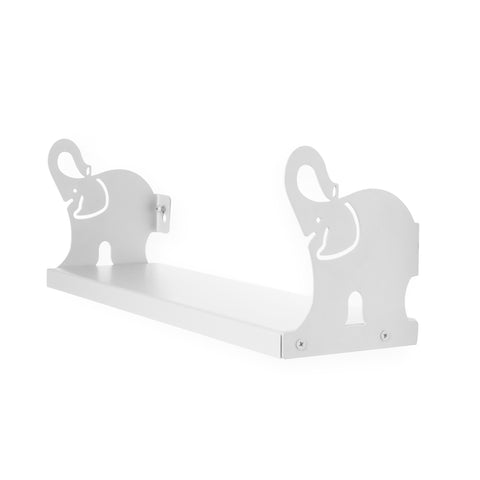 "ANIMO Elephant Shelves - 17"" Long - White - Wallniture"