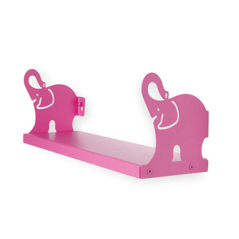 "ANIMO Elephant Shelves - 17"" Long - Pink - Wallniture"