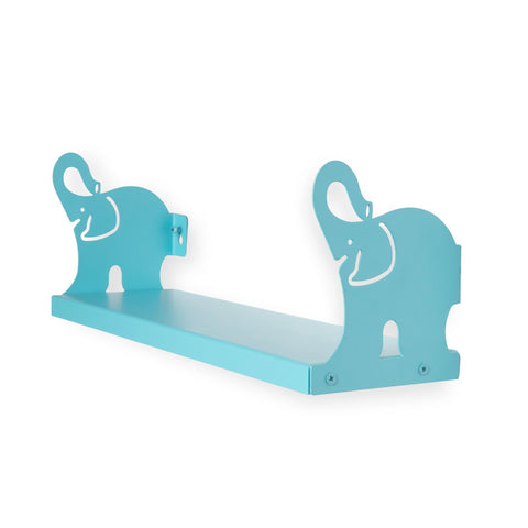 "ANIMO Elephant Shelves - 17"" Long - Blue - Wallniture"