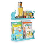 "ANIMO Floating Shelves Wall Bookshelf for Nursery Decor - 17"" Length - Blue - Wallniture"
