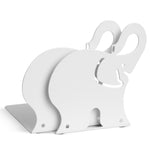 ANIMO Elephant Bookends and Shelves - Set of 2 - White