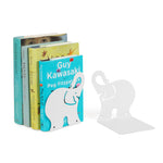 Animo Elephant Bookends and Shelves - Set of 2 - White - wallniture