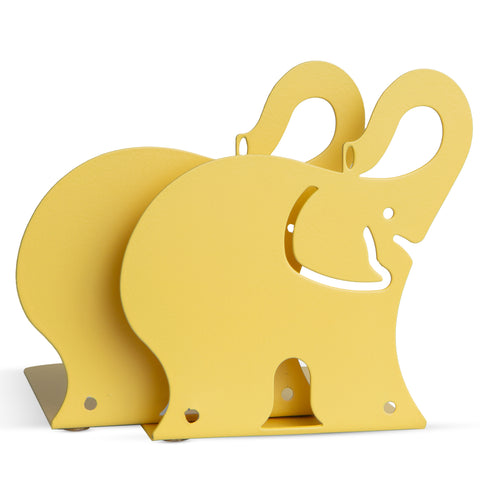 ANIMO Elephant Bookends and Shelves - Set of 2 - Yellow - Wallniture