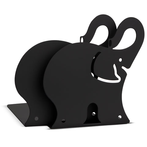 ANIMO Elephant Bookends and Shelves - Set of 2 - Black