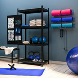 GURU Wall Mount Yoga Mat And Foam Roller Rack - White - Wallniture