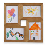 "WOODKADRA 4 Opening Collage Wood Picture Frame - 4"" x 6"" - Walnut - Wallniture"