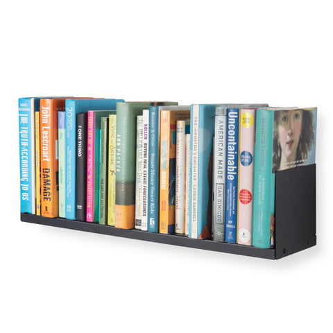 "LIBRO Floating Shelves Wall Bookshelf – 24"" Length – Black - Wallniture"