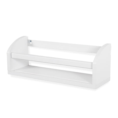 "LISSA Floating Shelves Wall Bookshelf for Nursery Decor – 16.5"" Length – White - Wallniture"