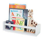 "MADRID Floating Shelves Wall Bookshelf for Nursery Decor – 16.5"" Length – White"