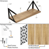 "MINORI 17"" Bathroom Shelf for Bathroom Decor, Wall Mount Bathroom Organizer – Set of 3 - Wallniture"