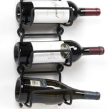 MODUWINE Wall Mounted Wine Bottle Rack – Straight Style – Black – 3 and 4 Pieces - wallniture