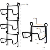 Moduwine Wall Mounted Wine Bottle Rack – Straight Style – 3, 4 Pieces – Black - Wallniture