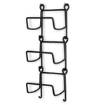 Moduwine Wall Mounted Wine Bottle Rack – Straight Style – 3, 4, 5 Pieces – Black - Wallniture