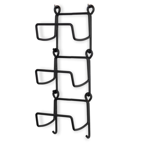 MODUWINE Wall Mount Towel Rack – Straight Style – 3, 4, 5 Pieces – Black - Wallniture