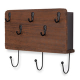 NORFOLK Coat Rack Key Hook Mail Holder  - Walnut - Wallniture