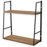"PASO 2 Tier Floating Shelf - 15.8"" Long - Walnut - Wallniture"